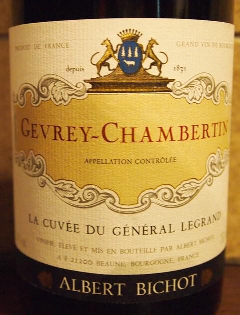 【ALBERT BICHOT GEVREY CHAMBERTIN LA CUVEE DU GENERAL LEGRAND】